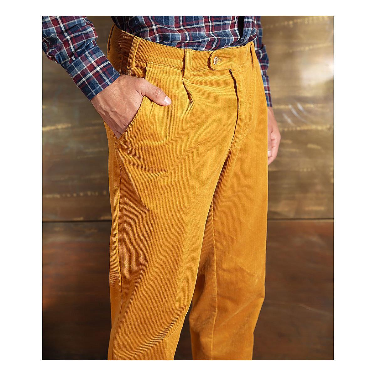 Aubi | Original Trelana Wollcord Hose | MIt elastischem Komfortbund | Farbe braun