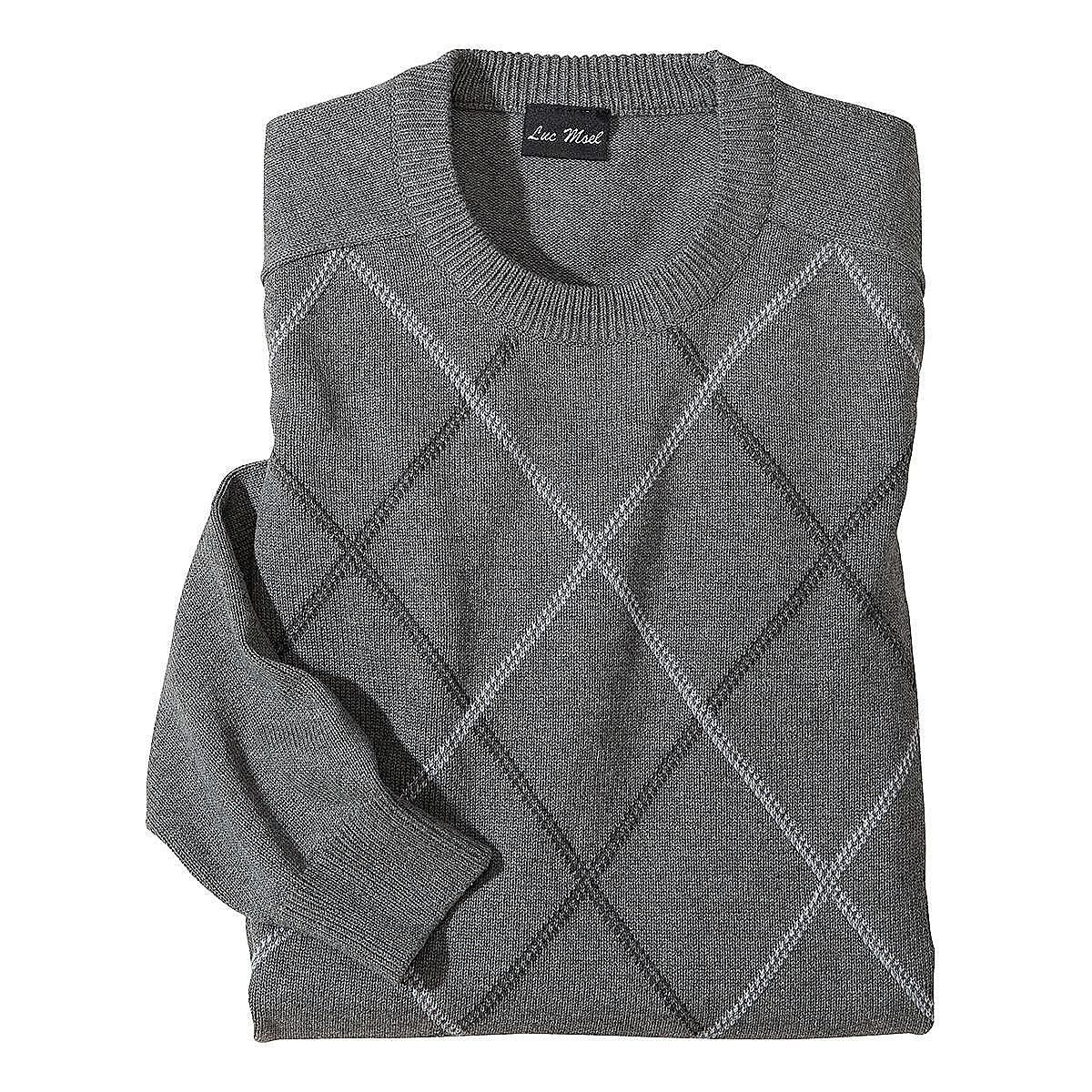 baumwoll pullover farbe grau gr enspezialist m nnermode. Black Bedroom Furniture Sets. Home Design Ideas
