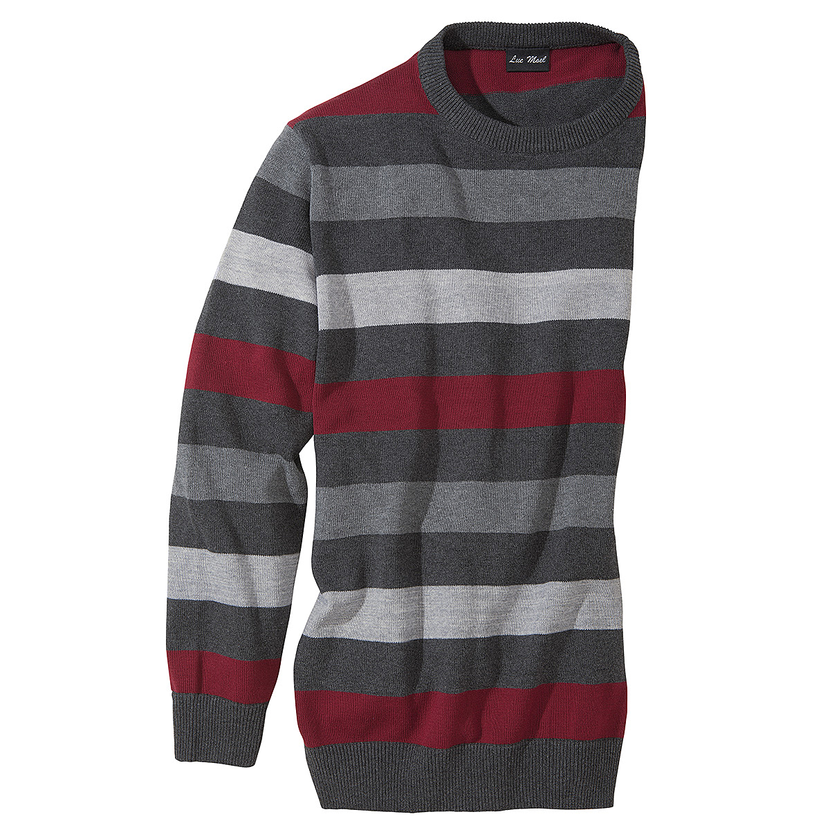 baumwoll pullover farbe grau rot gr enspezialist m nnermode. Black Bedroom Furniture Sets. Home Design Ideas