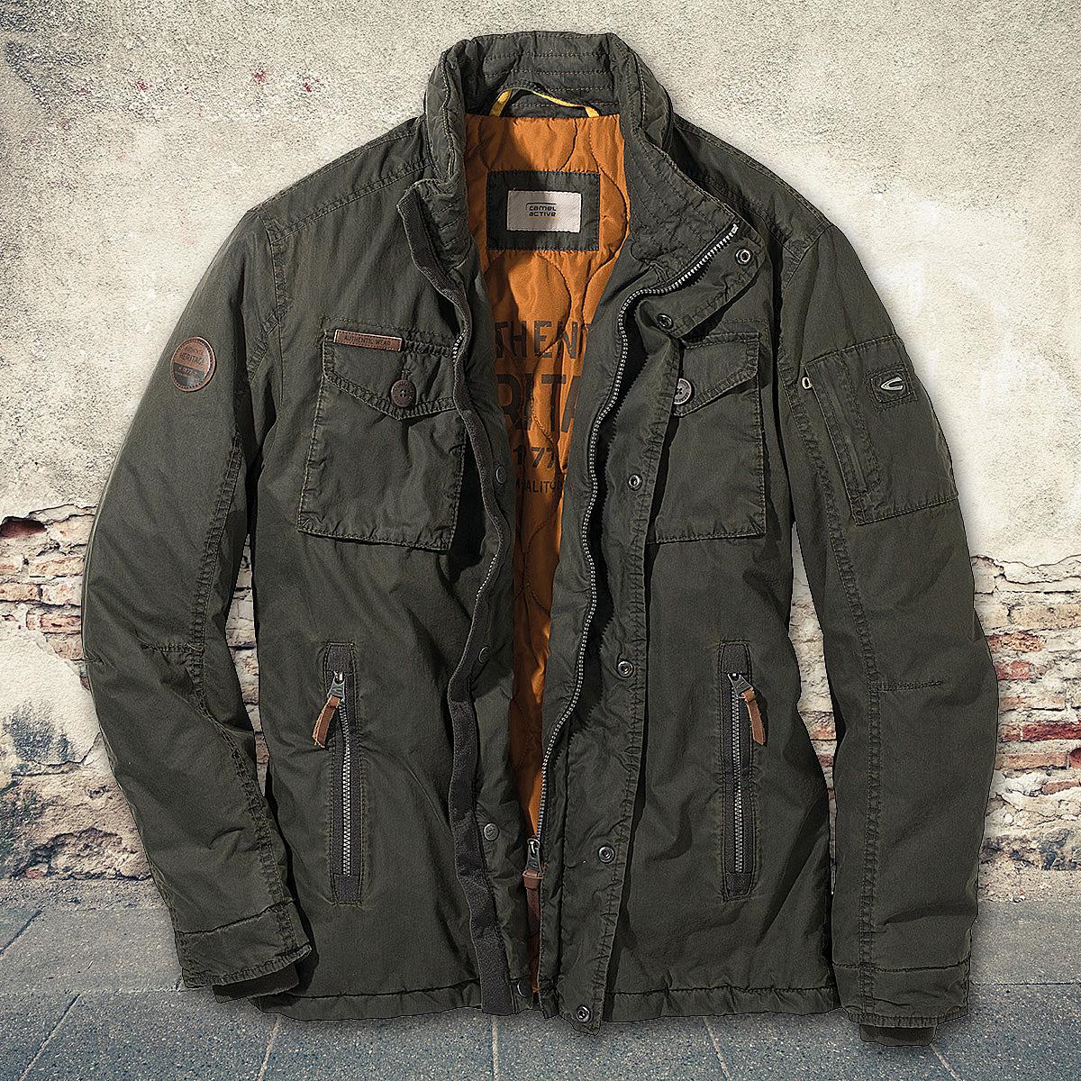 buy online 8c5ba f66be Camel active | Winter-Jacke mit Baumwolle | Farbe schlamm
