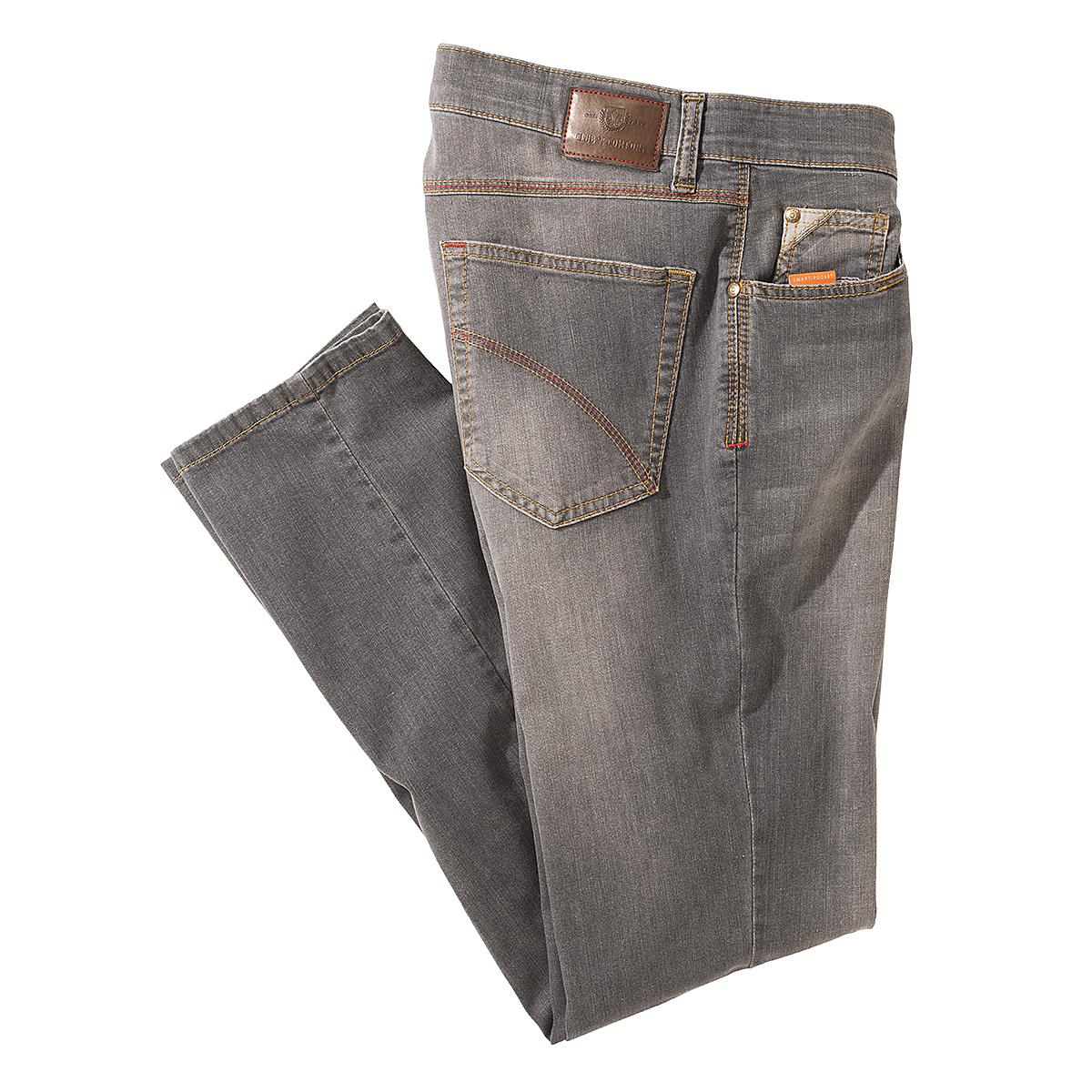 club of comfort highstretch denim 5 pocket jeans kurzleib grau gr enspezialist m nnermode. Black Bedroom Furniture Sets. Home Design Ideas