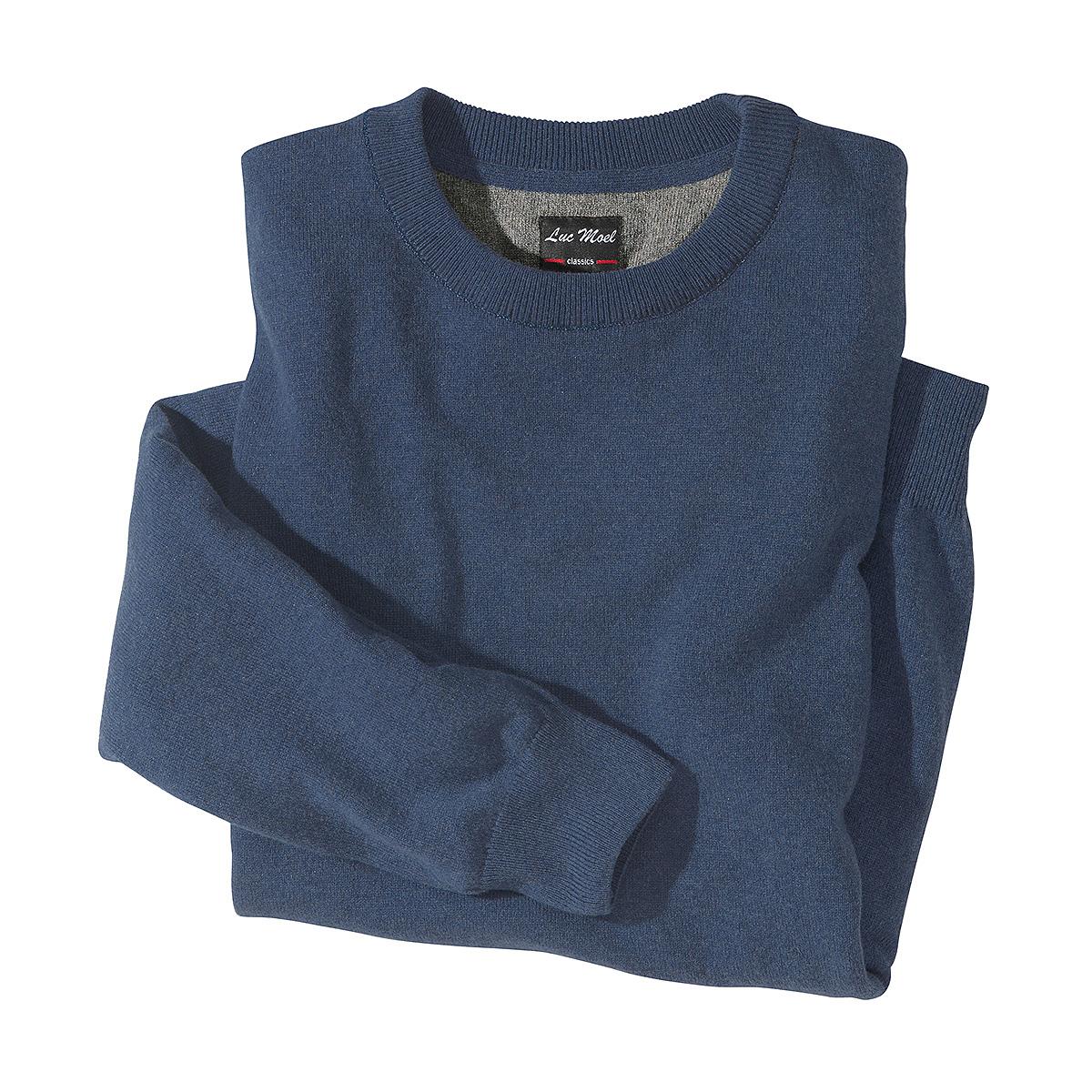 luc moel kaschmir pullover farbe blau gr enspezialist m nnermode. Black Bedroom Furniture Sets. Home Design Ideas