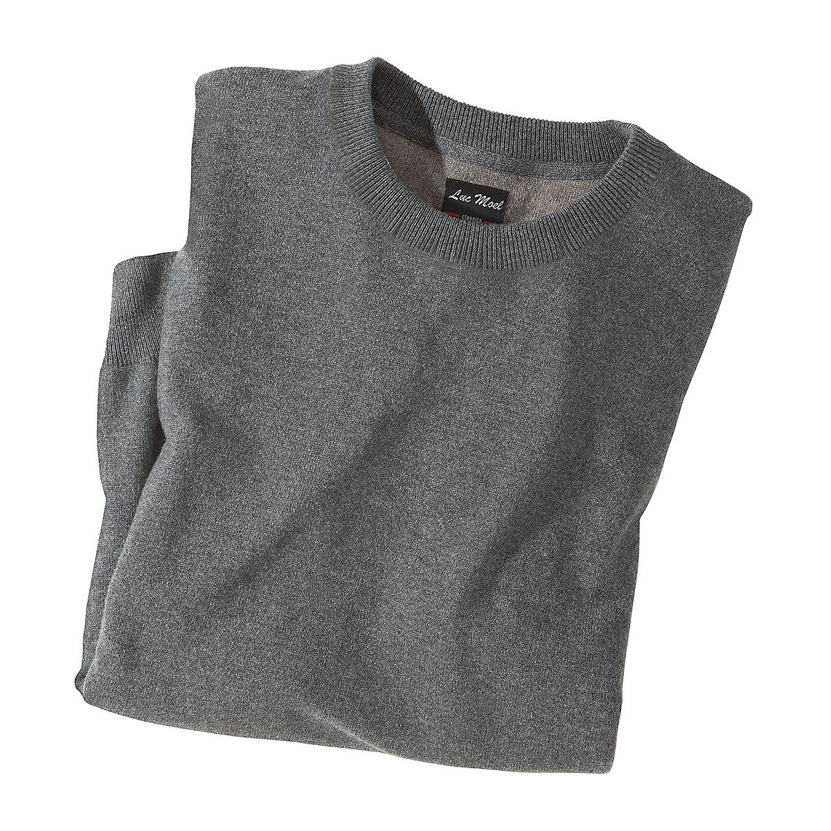 luc moel kaschmir pullover farbe grau gr enspezialist m nnermode. Black Bedroom Furniture Sets. Home Design Ideas