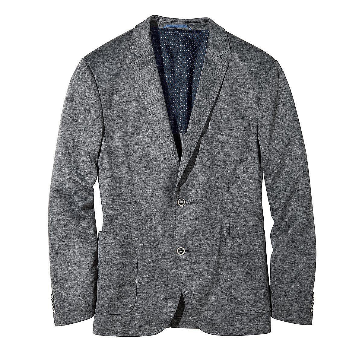leichtes modernes jersey sakko farbe grau gr enspezialist m nnermode. Black Bedroom Furniture Sets. Home Design Ideas