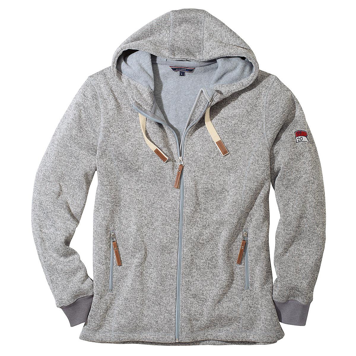 exquisiter Stil online zu verkaufen billig zu verkaufen Navigazione | Outdoor-Strickjacke mit Kapuze | Grau Melange
