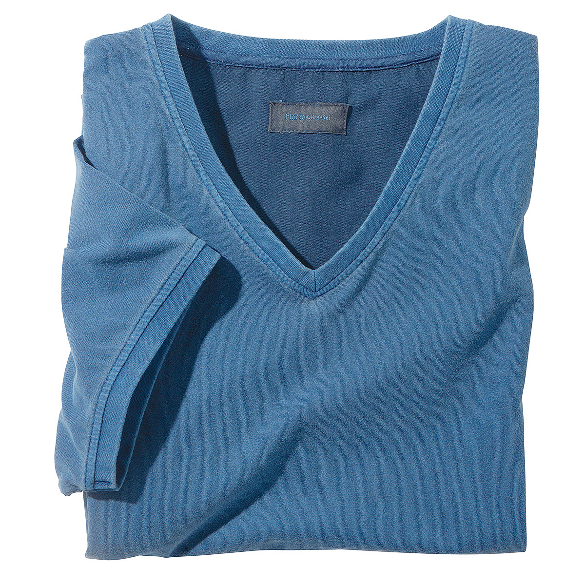 kimmich t shirt mit v ausschnitt farbe blau gr enspezialist m nnermode. Black Bedroom Furniture Sets. Home Design Ideas