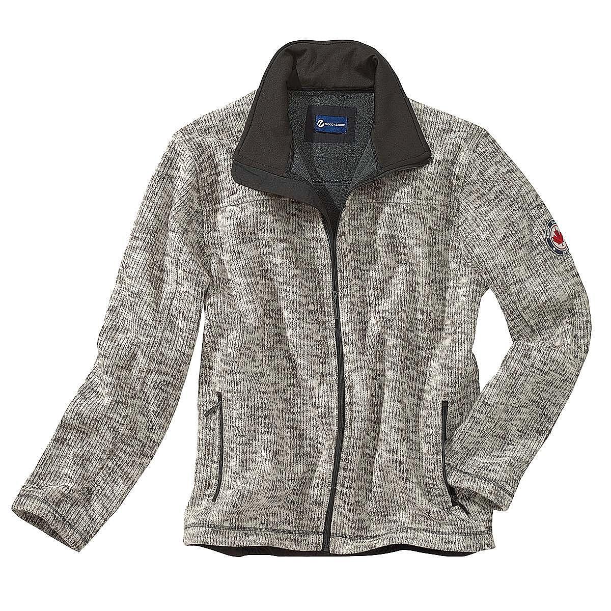 neuesten Stil von 2019 Brandneu geeignet für Männer/Frauen Outdoor Strickjacke mit Fleece Futter | Farbe natur-melange