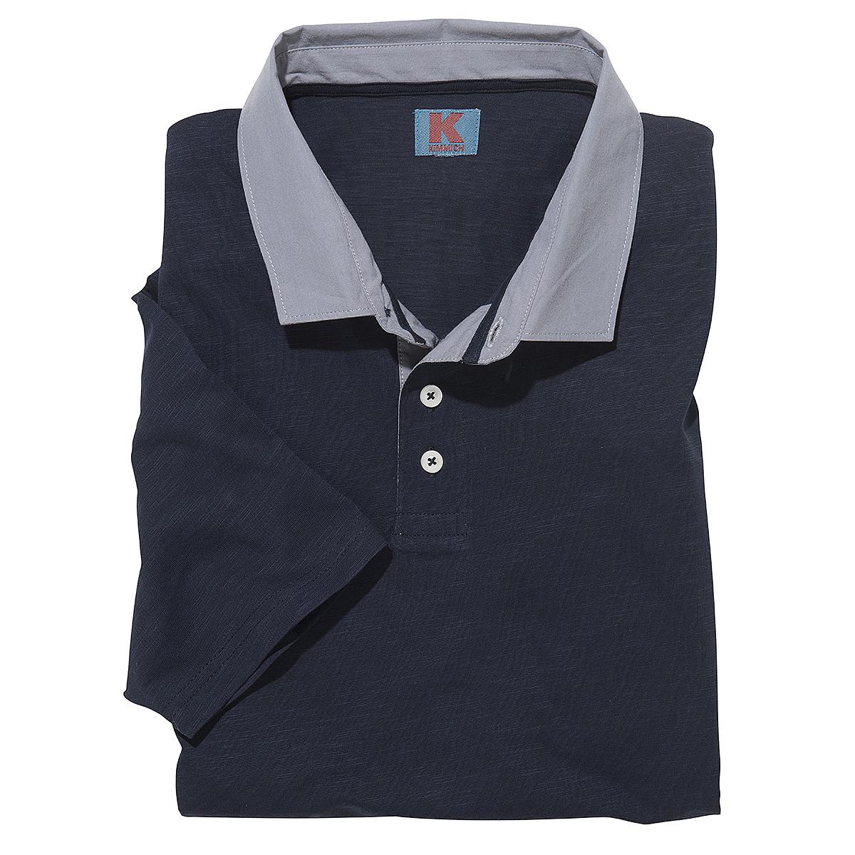 polo shirt mit gewebtem kragen flamm garn baumwolle. Black Bedroom Furniture Sets. Home Design Ideas