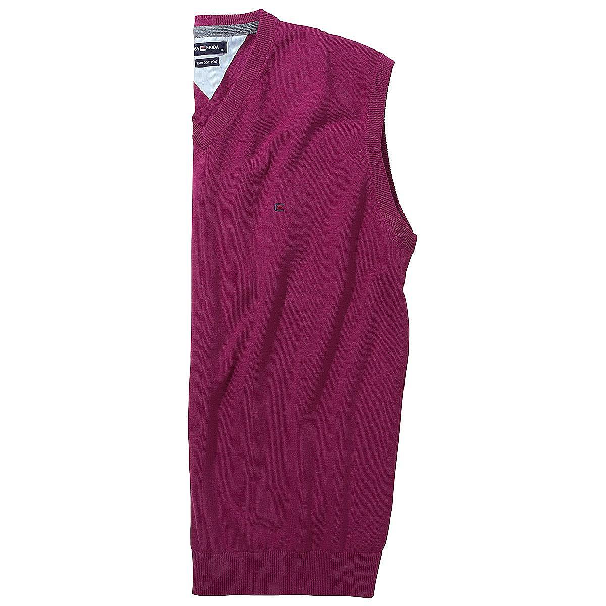Brombeer Farbe casa moda pullunder weiche baumwolle farbe brombeer