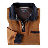 Casa Moda | Sweat Troyer | Baumwolle, mit Brusttasche | Terracotta