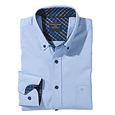 Casa Moda | Sportives Freizeit-Hemd | Button-down-Kragen | Blau
