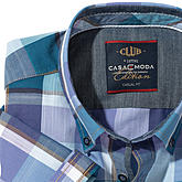 Casa Moda | Halbarmhemd | Club Kollektion | Button down Kragen | Fensterkaro