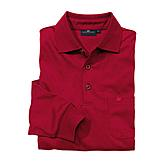 Jersey Hemd Easy-Care mit Polo-Kragen | Farbe rot