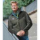 Windbreaker im Materialmix | Farbe anthrazit