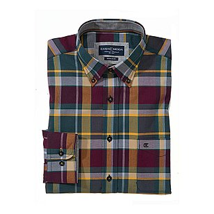 Casa Moda | Hemd Button-Down-Kragen | Farbe bordeaux Karo