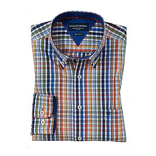 Casa Moda | Hemd Button-down-Kragen | Farbe multicolor Karo