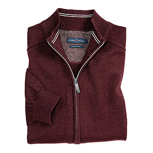 Casa Moda | Strickjacke Pima-Cotton | Burgund
