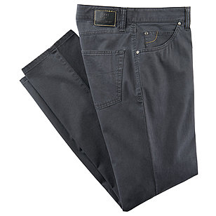 Club of Comfort | Edle 5-pocket Baumwoll-Hose Pima Cotton | Grau