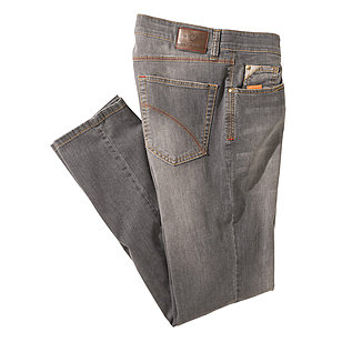 Club of Comfort | Highstretch Denim | 5-pocket Jeans | Kurzleib | Grau