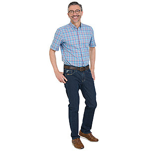 Club of Comfort | High-Stretch-Denim-Jeans | Farbe blue