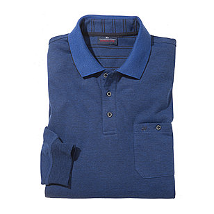 Jersey-Hemd Easy-Care mit Polo-Kragen | Farbe royal