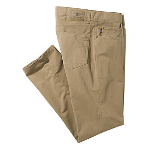Club of Comfort | Edle 5-pocket Baumwoll-Hose Pima Cotton | Khaki