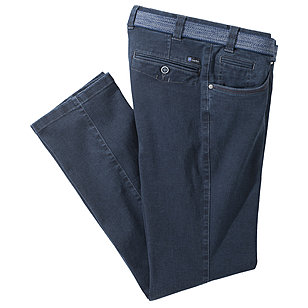 Luigi Morini | Highstretch Jeans Swing-Pocket | Farbe blue