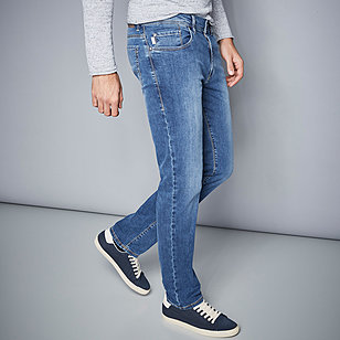 Pionier sportive | Sommerjeans - Kurzleibform High-Stretch-Denim | Farbe bleach