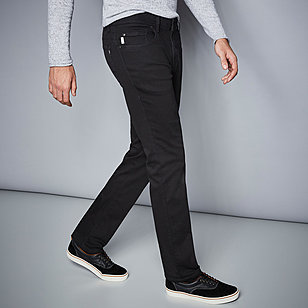 Pionier sportive | Sommerjeans - Kurzleibform High-Stretch-Denim | Farbe black