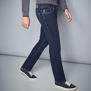 Pionier sportive | Sommerjeans - Kurzleibform High-Stretch-Denim | Farbe blue black