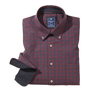 Redmond | College Hemd reine Baumwolle | Button down Kragen | Bordeaux royal