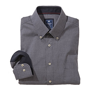 Redmond | College Hemd reine Baumwolle | Button down Kragen | Mini-Karo