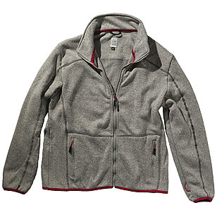 Brigg Zip It | Strick Fleece Jacke | Grau Melange