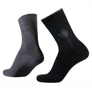 bugatti | Sensitive-Comfort Socken 2er-Pack | Schwarz / Anthra.