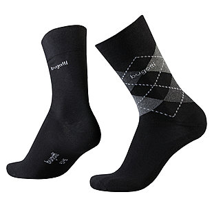 bugatti | Sensitive-Comfort Socken 2er-Pack | Schwarz / Grau