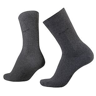 bugatti | Soft-Cotton Socken 2er-Pack | Anthrazit Melange