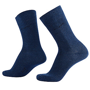 bugatti | Soft-Cotton Socken 2er-Pack | Indigo Melange